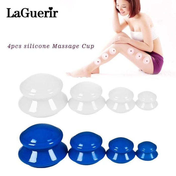 4Pcs Moisture Absorber Anti Cellulite Vacuum Cupping Cup Silicone Family Facial Body Massage Therapy-Health Care-LadyMisty Store-Blue-EpicWorldStore.com