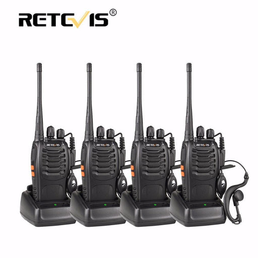 4Pcs Portable Walkie Talkie Retevis H777 16Ch Uhf Ham Radio Hf Transceiver 2 Way Cb Radio Station-Communication Equipments-RETEVIS Official Store-USB Charger-EpicWorldStore.com