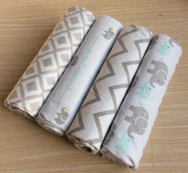 48b3edf473ff 4Pcs Pack 100% Cotton Supersoft Flannel Receiving Baby Blanket ...