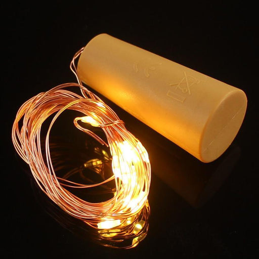 4X 2M 20-Led Copper Wire String Light With Bottle Stopper For Glass Craft Bottle Wedding-Outdoor Lighting-SICCSAEE Holidaylight Store-RGB-EpicWorldStore.com