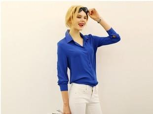 5 Colors Work Wear Women Shirt Chiffon Blusas Femininas Tops Elegant Ladies Formal Office-Blouses & Shirts-Top-Shopping-Blue-S-EpicWorldStore.com