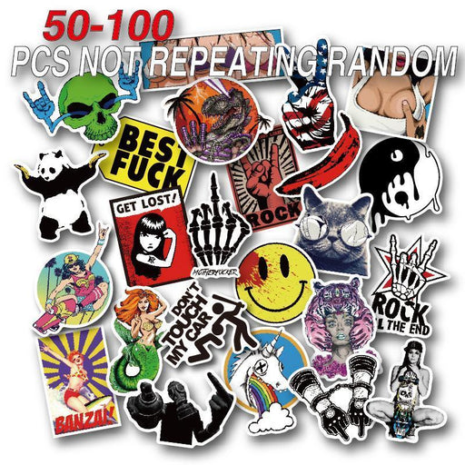 50-100 Pieces Do Not Repeat Pvc Waterproof Fun Name Sticker Toys The Luggage Laptop Stickers-Classic Toys-paoshen Official Store-50pcs-EpicWorldStore.com