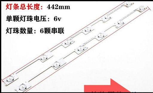 50 Pieces/Lot Original New Led Backlight Bar Strip For Konka Kdl48Jt618A 35018539 6 Leds(6V) 442Mm-Industrial Computer & Accessories-HIDORAJIN Store-EpicWorldStore.com