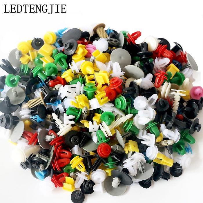 500Pcs Mixed Auto Car Fastener Clip Bumper Fender Plastic Rivet Door Panel USA
