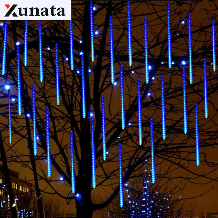 50cm 30cm 20cm waterproof meteor shower rain tubes led light lamp 240v eu plug christmas light