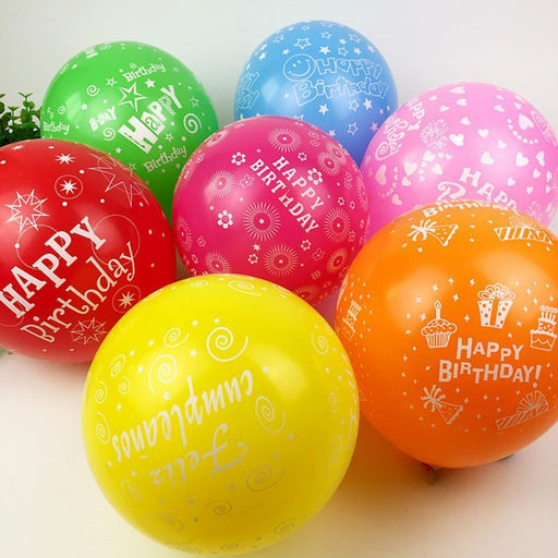 50Pcs 12Inch Latex Multicolor Balloons Happy Birthday Party Party Balloon Inflatable Decoration-Festive & Party Supplies-PeStary Store-50PCS-EpicWorldStore.com