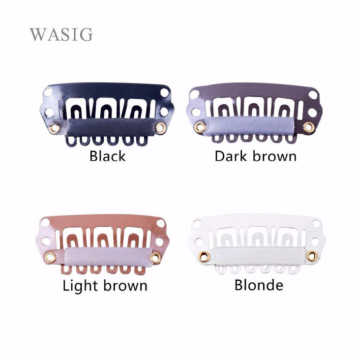 50pcs 28mm U Shaped Snap Clips For Hair Extensions Clip With