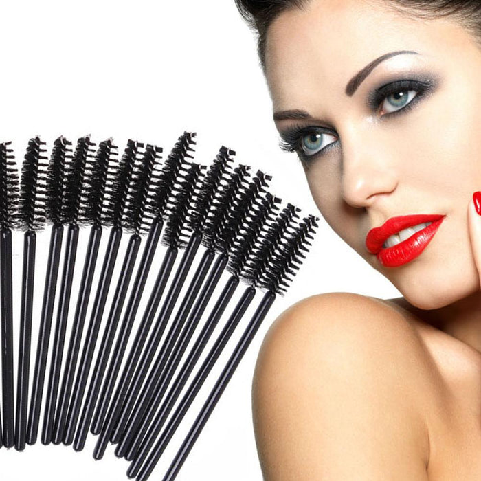 50Pcs/Pack Disposable Micro Eyelash Brushes Mascara Wands Applicator Wand Brushes Eyelash Comb-Makeup-topnewfrog-Black-EpicWorldStore.com