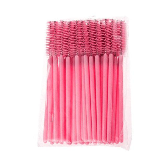 50Pcs/Pack Disposable Micro Eyelash Brushes Mascara Wands Applicator Wand Brushes Eyelash Comb-Makeup-topnewfrog-Pink-EpicWorldStore.com