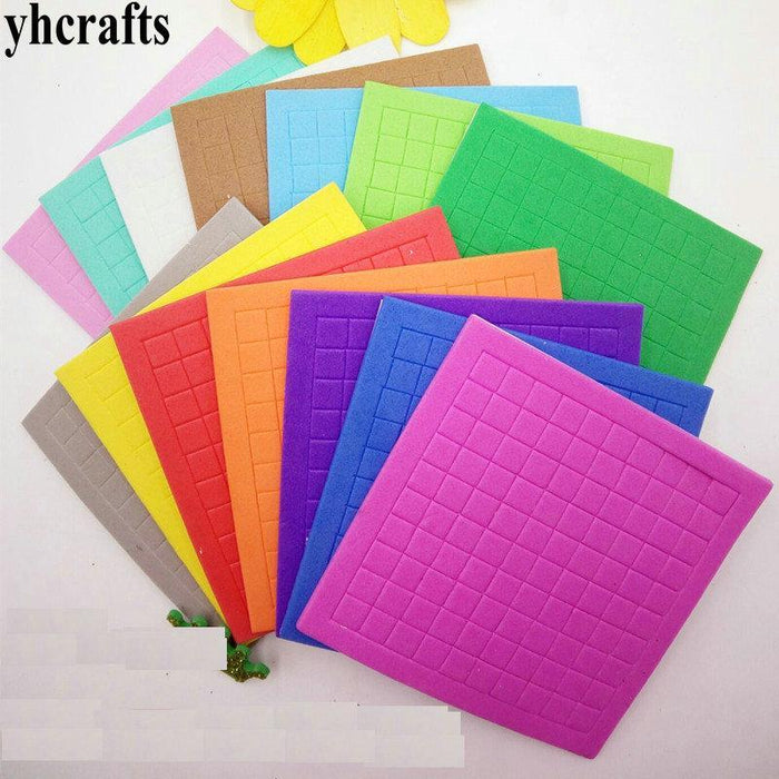 50Sheets(5000Pcs Stickers)/Lot,10 Color Eva Foam Mosaic Stickers Early  Educational Toys Kindergarten