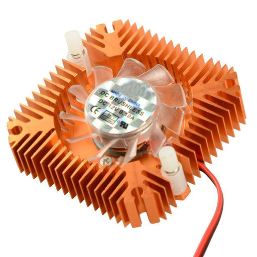 55Mm 2 Pin Graphics Cards Cooling Fan Aluminum Gold Heatsink Cooler Fit For Personal Computer-Computer Components-hkyrd-cnshop Store-EpicWorldStore.com