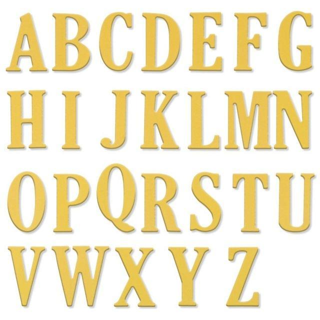5Cm Large Big Alphabet Letters Metal Cutting Dies Stencils For Diy  Scrapbooking Diy New