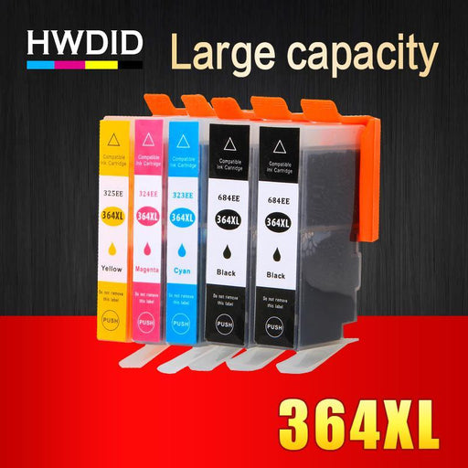5Pack 364Xl Ink Cartridge Replacement For Hp 364 Xl Cartridges For Deskjet 3070A 5510 6510 B209A-Office Electronics-HUIWEI Official Flagship Store-EpicWorldStore.com