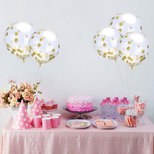 "5Pcs/Lot 12"" Confetti Balloons Clear Ballons Party Wedding Party Decoration Kid Children Birthday-Festive & Party Supplies-YONSNOW Store-multicolor-EpicWorldStore.com"