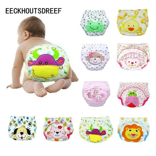 5Pcs/Lot Cartoon Baby Training Pants Waterproof Diaper Pant Potty Toddler Panties New Underwear-Baby Care-Shop236649 Store-MIX BOYS AND GIRLS-4 TO 6M-EpicWorldStore.com