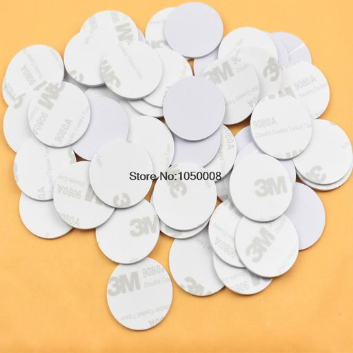 5Pcs/Lot Rfid 125Khz 25Mm T5577 Sticker Rewritable Adhesive Coin Cards Tag For Copy Round Shape-Shenzhen fly fly technology company-EpicWorldStore.com