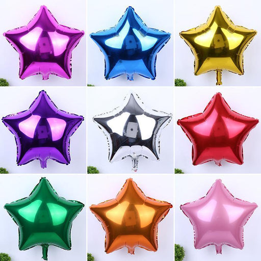 "5Pcs/Lot Wedding Balloon Decoration 10""/18"" Star/Heart Foil Helium Balloons Birthday Wedding-Festive & Party Supplies-YONSNOW Store-star silver-10inch-EpicWorldStore.com"