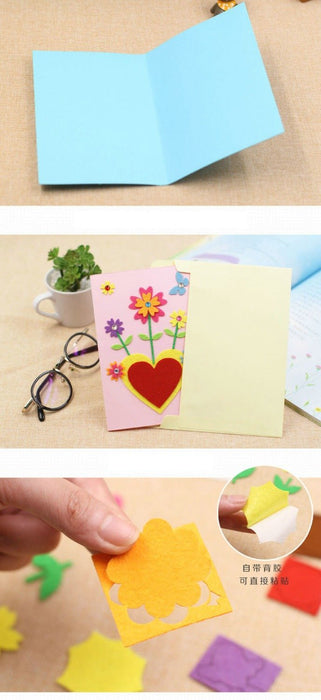 5pcs Lot 5 Design Felt 3d Greeting Cards Craft Kits With Envolope