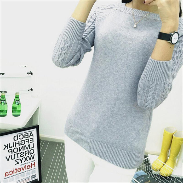 6 Colors Sweaters Women Hot Sale Winter O-Neck Long Sleeve Pullovers Knitted Sweater Female-Sweaters-Women FASHON World Store-Beige-S-EpicWorldStore.com