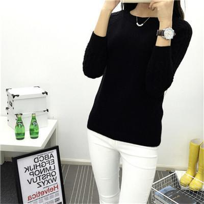 6 Colors Sweaters Women Hot Sale Winter O-Neck Long Sleeve Pullovers Knitted Sweater Female-Sweaters-Women FASHON World Store-Black-S-EpicWorldStore.com