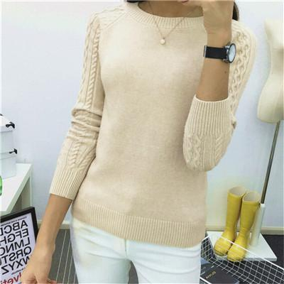 6 Colors Sweaters Women Hot Sale Winter O-Neck Long Sleeve Pullovers Knitted Sweater Female-Sweaters-Women FASHON World Store-Khaki-S-EpicWorldStore.com