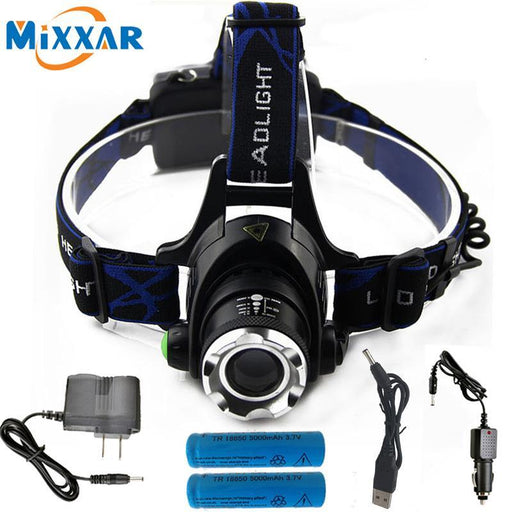 6000Lm Cree Xm-L T6 Led Headlamp Zoomable Headlight Waterproof Head Torch Flashlight Head Lamp-Portable Lighting-Light the World Store-A-EpicWorldStore.com