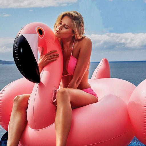 60Inch 150Cm Inflatable Flamingo Giant Pool Float Pool Inflatable Toy Swim Ring Adult Ride-On-Water Sports-Fashion Shopping City Store-Pink-EpicWorldStore.com