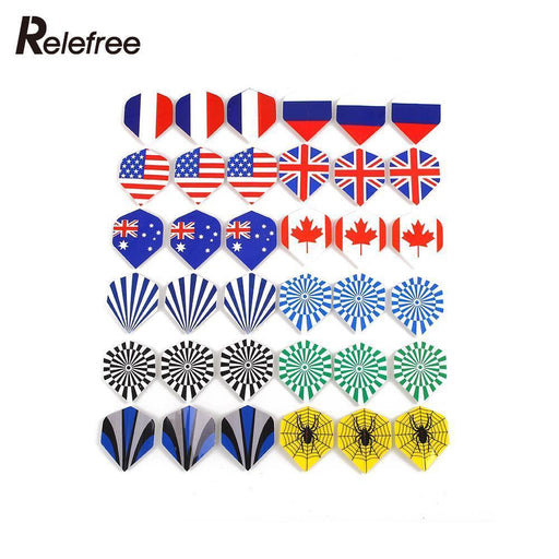 60Pcs Popular Pattern Nice Darts Tail Flights Wing Mixed Style For Professional Darts Wing Tail Cool-Entertainment-U & I Store-EpicWorldStore.com
