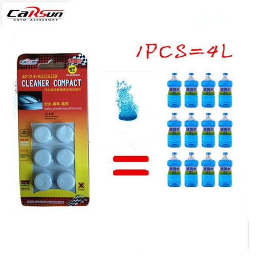 6Pcs/Pack(1Pcs=4L Water) Brand New Car Solid Wiper Fine Car Auto Window Cleaning Car Windshield-Car Wash & Maintenance-Changda Co.,Ltd Store-EpicWorldStore.com