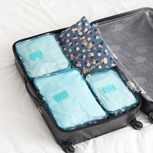 6Pcs/Set High Quality Oxford Cloth Travel Mesh Bag Luggage Organizer Packing Cube Organiser Travel-Luggage & Travel Bags-YIWU ZHUOYIMEI Store-1-EpicWorldStore.com