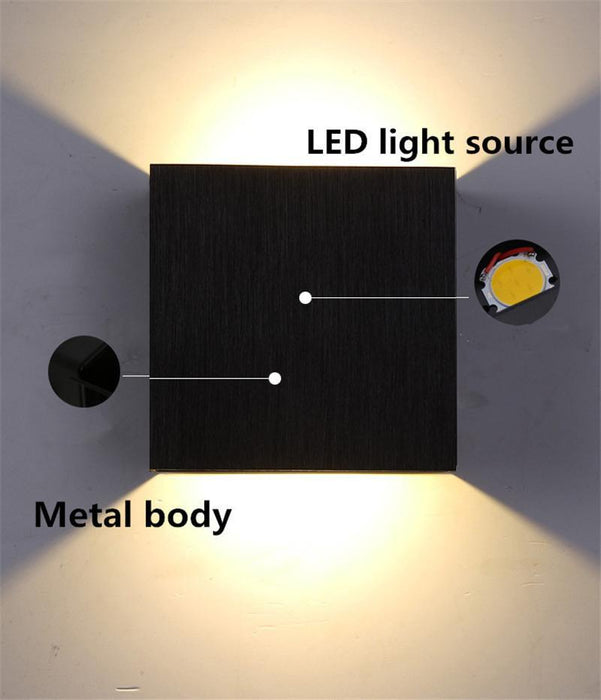 6W Dimmable Led Wall Lamp Luminaire Apliques Pared Lamparas De Pared Wall  Sconce Bedroom Led Wall