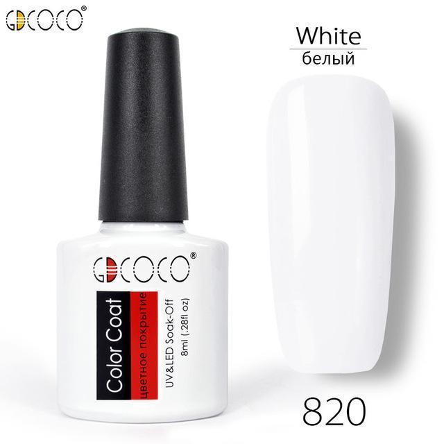 #70312 Canni Factory Supply Gdcoco Brand 8Ml Primerbase Coat, Reinfor Gel, No Wipe Top Coat, Matt-Nails & Tools-GDCOCO Official Store-820 White-EpicWorldStore.com