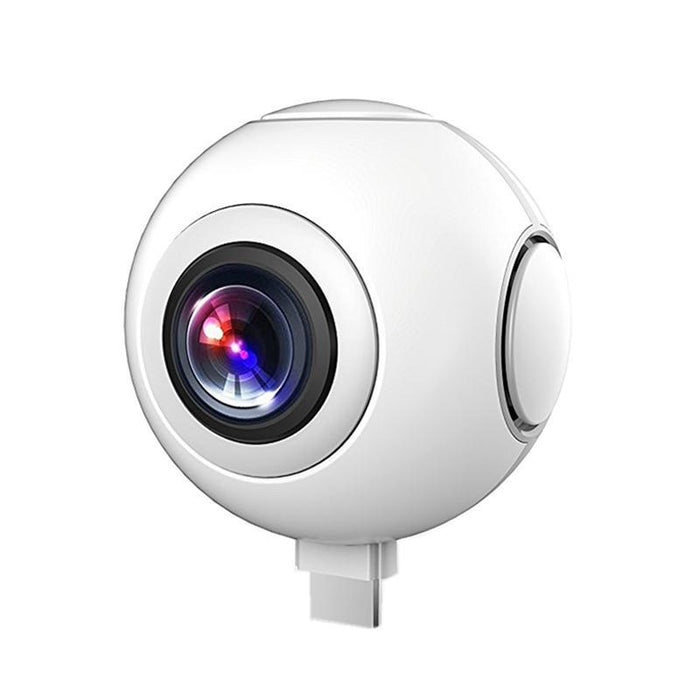 720 360 Degree Panoramic Camera Vr Camera Hd Video Dual Wide Angle Lens  Real Time Seamless Stitching