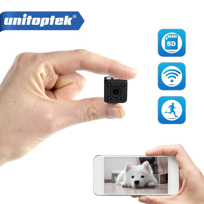 720P Hd Wifi Wireless Mini Ip Camera Night Vision Motion Detect Mini Camcorder Loop Video Recorder-Unitoptek Official Store-White No SD-EpicWorldStore.com