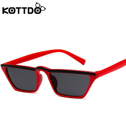 8 Colors Cute Sexy Retro Cat Eye Sunglasses Women Small Black White Square Vintage Cheap Sun-Sunglasses-shopZXWLYXGX Store-red-EpicWorldStore.com