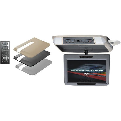 "9"" Ceiling-Mount Swivel Dvd Entertainment System With Ir & Fm Transmitters & 3 Interchangeable Skins-Automotive Marine & GPS-POWER ACOUSTIK(R)-EpicWorldStore.com"