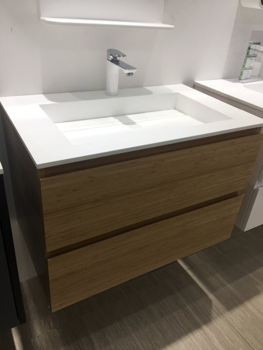 900X460X110Mm Bathroom Solid Wood Vanity With Solid Surface Wash Basin With Two Sliding Drawers-Bathroom Sinks-Bathroom products supplying-EpicWorldStore.com