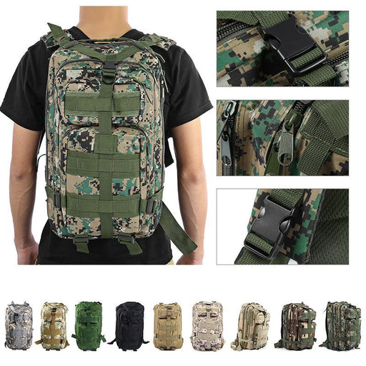 9Colors 3P Outdoor Tactical Backpack 30L Military Bag Army Trekking Sport Travel Rucksack Camping-Sport Bags-Top Sport Store - make sport easy-a-EpicWorldStore.com
