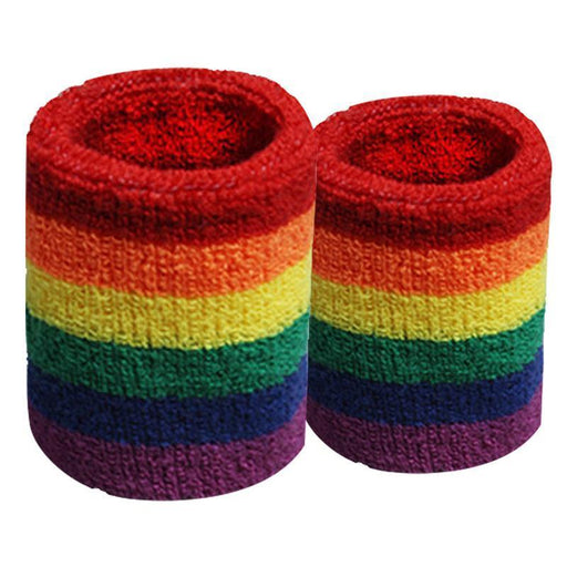 A Pair Of Rainbow Wristbands Colorful Sweat-Absorbent Sports Six-Color Towel Wristbands Basketball-Light of movement Store-810cm-EpicWorldStore.com