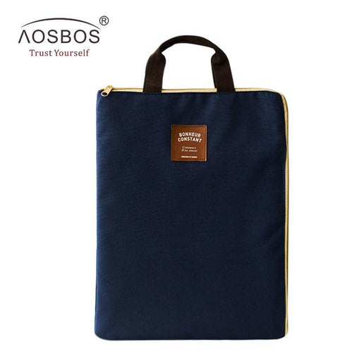 A4 Oxford File Folder Bag Men Portable Office Supplies Organizer Bags Casual Ladies Tote Document-Aosbos Official Store-light grey-EpicWorldStore.com