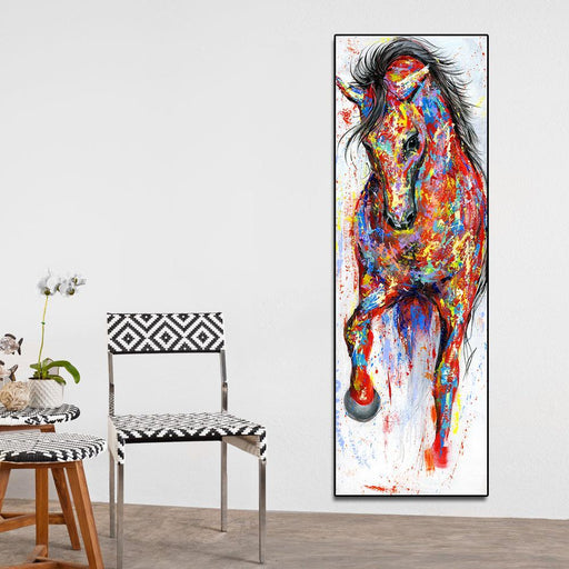 Aavv Wall Art Canvas Painting Running Horse Wall Picture Poster Prints Animal Painting Home Decor No-Painting & Calligraphy-YW ART Store-8x24-EpicWorldStore.com