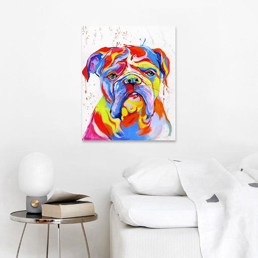 Aavv Wall Art Canvas Pictures Animal Home Decor Bulldog Painting Portrait For Living Room No Frame-Painting & Calligraphy-YW ART Store-8x10-EpicWorldStore.com