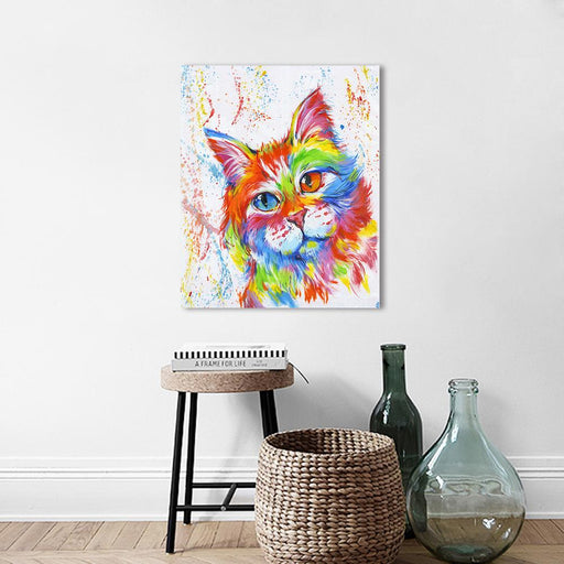 Aavv Wall Art Canvas Pictures Animal The Cat Painting Home Decor For Living Room No Frame X13-Painting & Calligraphy-YW ART Store-8x10-EpicWorldStore.com