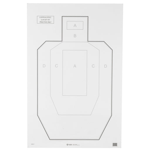 Action Tgt Uspsa Paper 100Pk-Tactical Supply-Action Target-EpicWorldStore.com