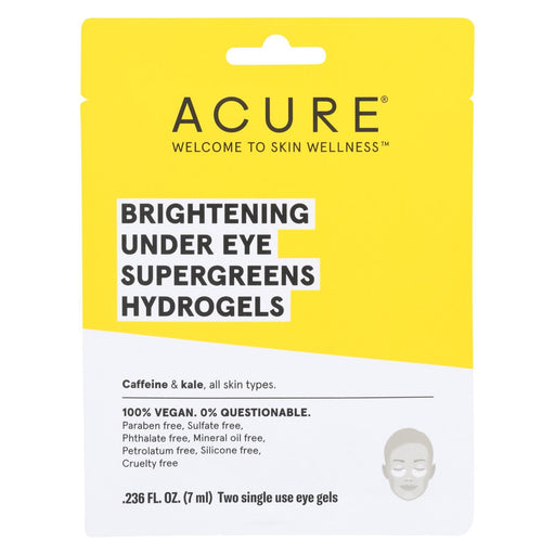 Acure - Brightening Under Eye Supergreens Hyrdrogels - Case Of 12 - 0.236 Fl Oz.-Eco-Friendly Home & Grocery-Acure-EpicWorldStore.com