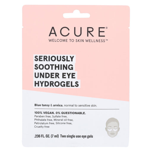 Acure - Seriously Soothing Under Eye Hydrogels - Case Of 12 - 0.236 Fl Oz.-Eco-Friendly Home & Grocery-Acure-EpicWorldStore.com