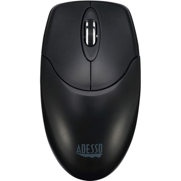 Adesso 2 4Ghz Wireless Optical Mouse, With Metal Scroll Wheel, Auto-Sleep  Fea