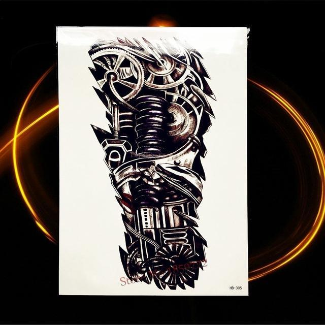 Africa Serengeti Lion Temporary Tattoo Indian Tribal Mighty Lion Warrior Waterproof Flash Tattoo-Tattoo & Body Art-GoldOcean Factory Store-HHB305-EpicWorldStore.com