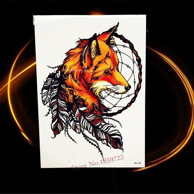 Africa Serengeti Lion Temporary Tattoo Indian Tribal Mighty Lion Warrior Waterproof Flash Tattoo-Tattoo & Body Art-GoldOcean Factory Store-HHB358-EpicWorldStore.com