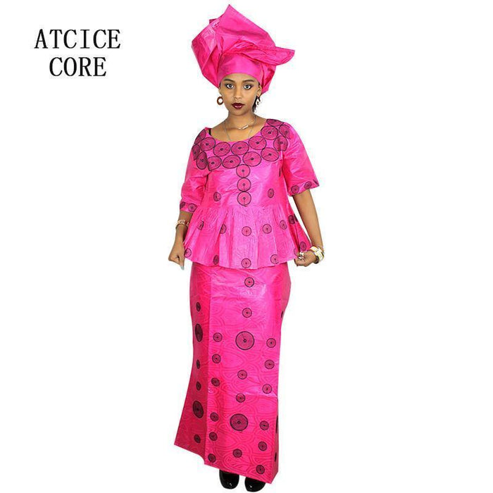 African Dresses For Women 100% Cotton New African Deisgn Baizn Riche Embroidery Design Dress-Traditional & Cultural Wear-cice core-dark blue-L-EpicWorldStore.com